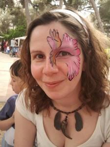 איפור פרח מסביב לעין לפורים