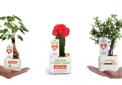 עציצים ממותגים כמוצרי פרסום הטורבו לשיווק העסק שלך