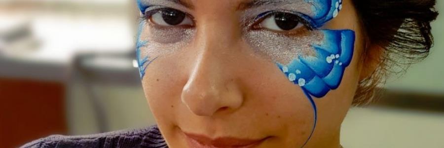 איפור פרפר כחול לפורים